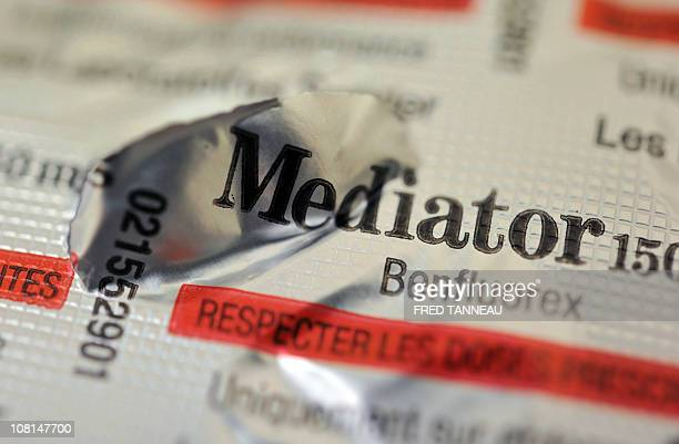 A picture taken on January 19 2011 in Brest western France shows a blister pack of Mediator a drug for diabetic people which is believed to have...