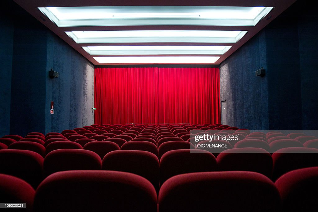 A picture taken on January 19, 2011 in Paris, shows a screening room at the Cinemas St Andre des Arts movie theater.