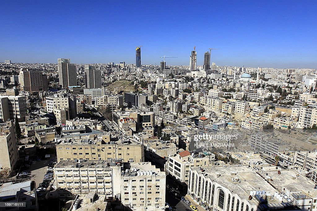 A picture taken on January 19, 2013, shows a general view of the Jordanian capital Amman as the country prepares for parliamentary elections. More than 1,500 candidates, including 213 women, have been registered for the January 23 election, which the opposition Islamists and other groups have boycotted over a lack of reform.