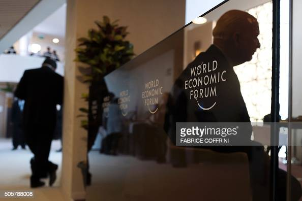 A picture taken on January 20 2016 shows silhouette of participants during the World Economic Forum annual meeting in Davos A string of jihadist...