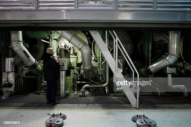 A picture taken on January 23 2013 in Alizay northwestern France shows the paper mill MREAL plant The paper mill has been sold by the departement of...