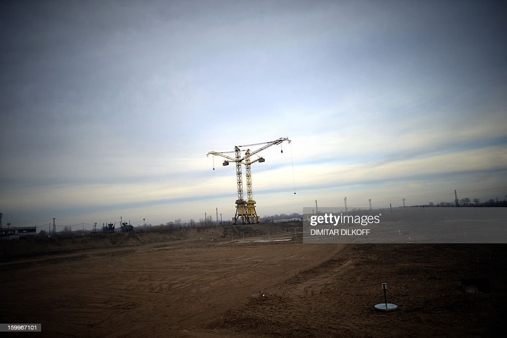 A picture taken on January 24, 2013, shows the construction site of Bulgaria's second nuclear power plant in the town of Belene. Bulgarians will go to the polls Sunday to vote in a referendum for or against the construction of a new nuclear power plant in the Balkan country. A total of 6.9 million voters in generally pro-nuclear Bulgaria will be eligible to answer the question 'Should Bulgaria develop nuclear energy through building a new nuclear power plant?'