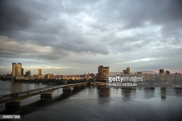 A picture taken on January 25 shows the Nile River as the sun sets over the Egyptian capital Cairo / AFP / KHALED DESOUKI