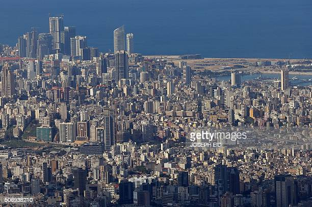 A picture taken on January 26 2016 from the village of Beit Mery east of Beirut shows a view of the Lebanese capital / AFP / JOSEPH EID