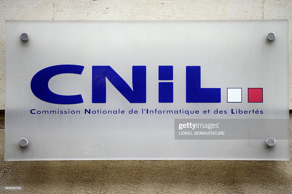 A picture taken on January 29, 2013 shows France's computer technology watchdog CNIL (Commisson Nationale de l'Informatique et des Libertes) sign in Paris.