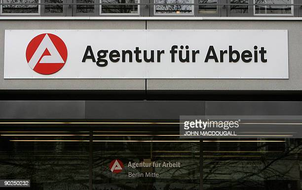 FILES Picture taken on January 31 2009 shows a branch of Germany's national employment agency 'Agentur fuer Arbeit' in Berlin German unemployment...