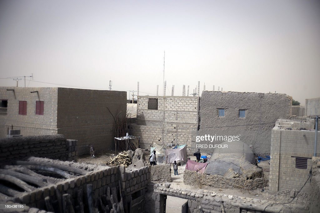 A picture taken on January 31, 2013 shows a partial view of Timbuktu, on January, 31, 2013. The fabled desert city of Timbuktu, an ancient centre of Islamic learning, has been recaptured on January 28 by French-led forces in their offensive against Islamist rebels who have been occupying Mali's north since last April. The extremists last year smashed up mausoleums of ancient saints and the entrance to the 15th-century Sidi Yahya mosque, claiming the sites were blasphemous. Reports had emerged in recent days that rebels fleeing the advancing soldiers had torched a building housing thousands of priceless manuscripts, but an expert said on January 30 that most had been smuggled to safety as the Islamists overran the city last year.