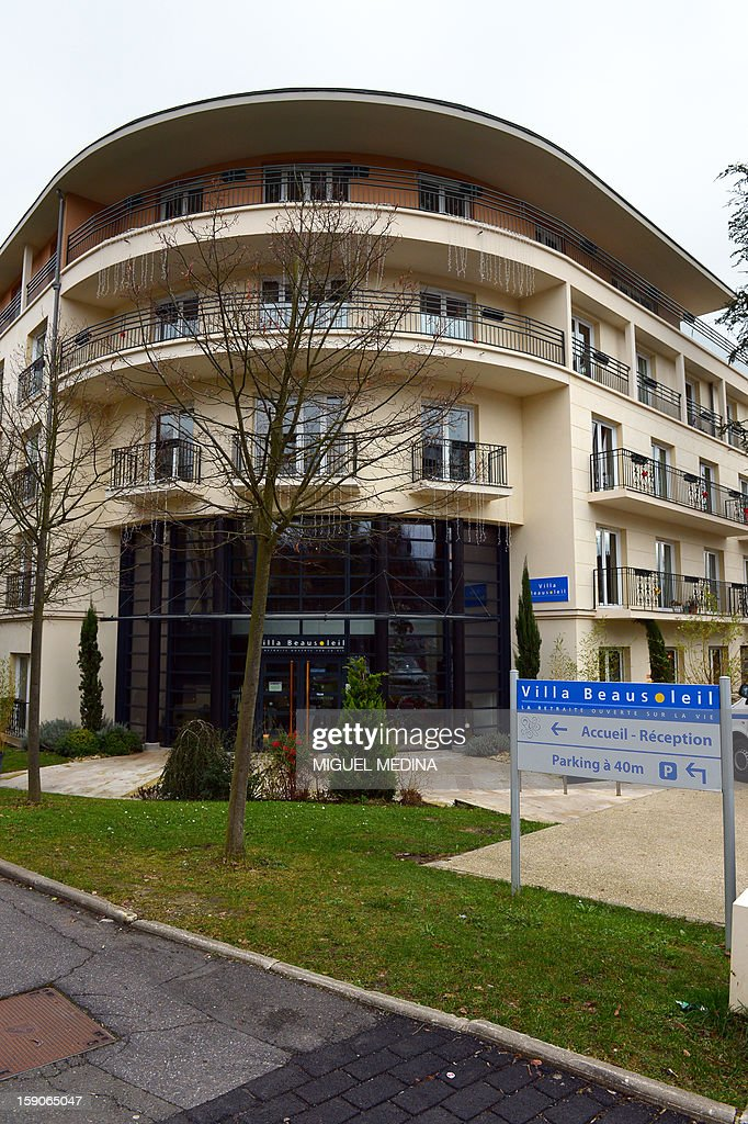 Picture taken on January 7, 2013 in Chaville shows the facade of the retirement home of Chaville, outside Paris, which authorities accused of breaking the law by throwing a 94-year-old woman out and leaving her at an emergency room after her family missed payments. Workers at the retirement hometook the woman to her son's residence on January 4, 2013 after she was expelled because the family was 40,000 euros ($52,000) behind on payments. Finding no one at home, they left her in the emergency room at a local hospital instead. AFP PHOTO MIGUEL MEDINA