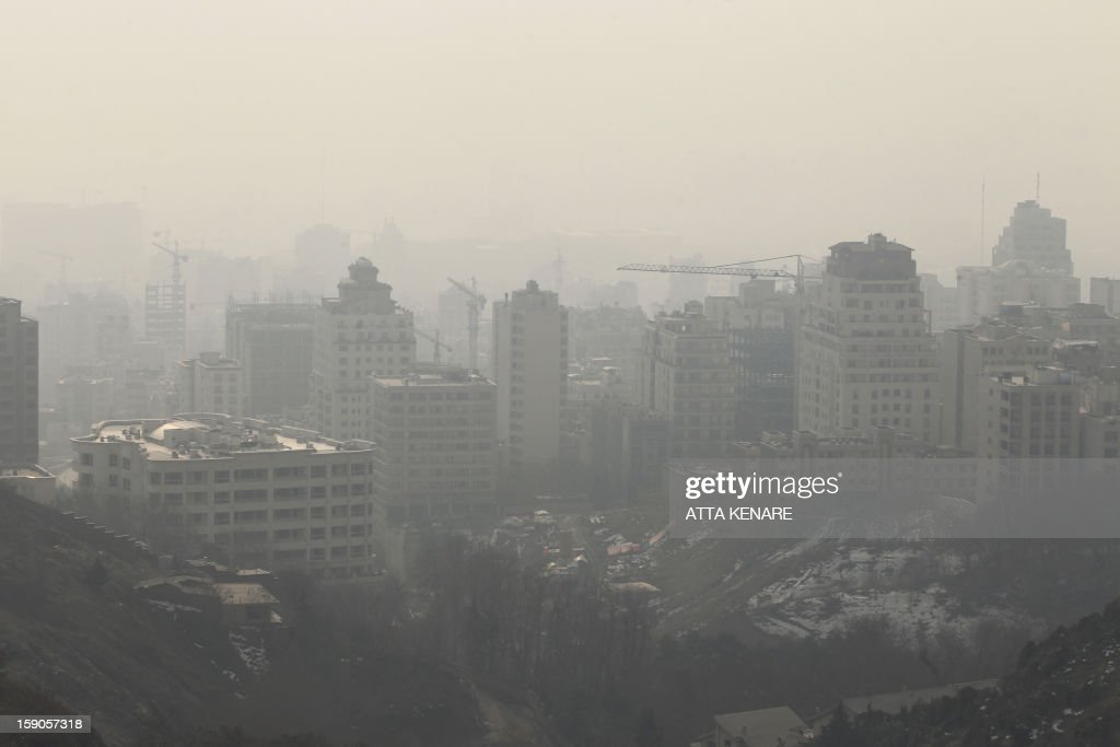 A picture taken on January 7 2013 shows the polluted skyline of the Iranian capital Tehran Air pollution in Tehran has left 4460 people dead in a...