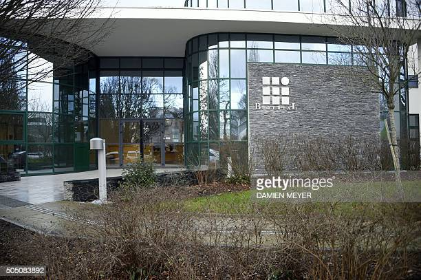 A picture taken on Januray 15 2016 shows the Biotrial laboratory building in Rennes where a clinical trial of an oral medication left one person...