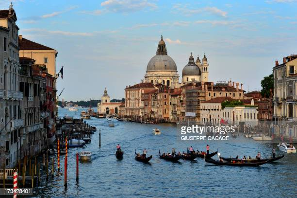 A picture taken on July 10 2013 show one of the main waterways in Venice AFP PHOTO / GIUSEPPE CACACE