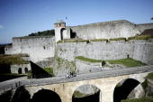 A picture taken on July 10 in Besancon eastern France shows the town's citadel which was added to the list of World Heritage sites by UNESCO on July...