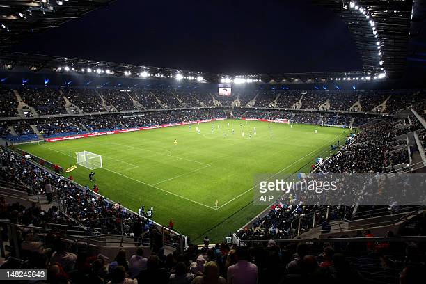 A picture taken on July 12 2012 shows a view of the Oceane stadium the new 25000capacity arena of the French L2 footbal club Le Havre in the French...