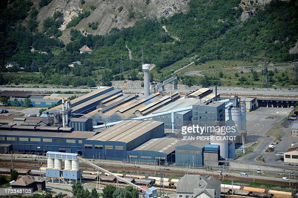 A picture taken on July 12 2013 shows the Rio Tinto Alcan aluminum factory in SaintJeandeMaurienne southeast of France Heads of Rio Tinto Alcan and...