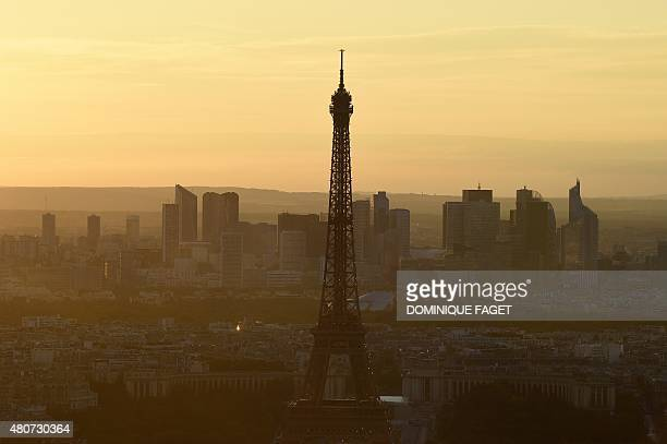 A picture taken on July 14 2015 shows the Eiffel Tower in Paris AFP PHOTO / DOMINIQUE FAGET