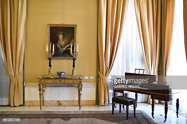 A picture taken on July 17 2015 shows a room of the Napoleonic apartments in the Quirinale Presidential Palace in Rome The Quirinale palace built in...