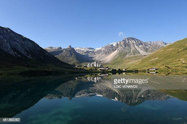 A picture taken on July 20 2015 in Tignes shows the TignesValClaret ski resort AFP PHOTO / LOIC VENANCE