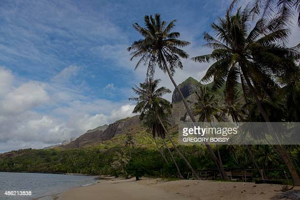 LAUTIER A picture taken on July 25 2015 shows the Nuku Hiva island part of the Marquesas Islands In 2010 the mayor of a French Polynesia atoll...