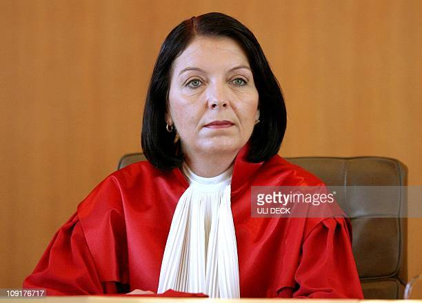 FILES Picture taken on July 27 2005 in Karlsruhe shows Christine HohmannDennhardt then judge at Germany's supreme court German car maker Daimler...