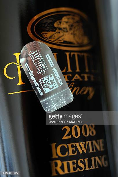 MUSTACICH A picture taken on July 7 2011 in Bordeaux southwestern France shows a seal on a bottle of wine The seals developed by Prooftag a French...