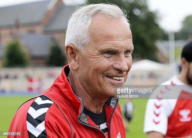 A picture taken on July 7 2012 shows former Danish football player manager and coach Richard Moeller Nielsen during a meeting of German and Danish...