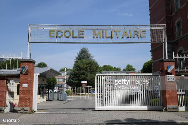 A picture taken on July 7 2017 in Strasbourg eastern France shows the school of the linguists of the Military intelligence The Military Intelligence...