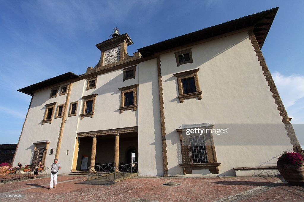 A picture taken on July 8 2013 in Florence shows a building of the Forte Belvedere where the Hip hop star Kanye West and reality TV celebrity Kim...