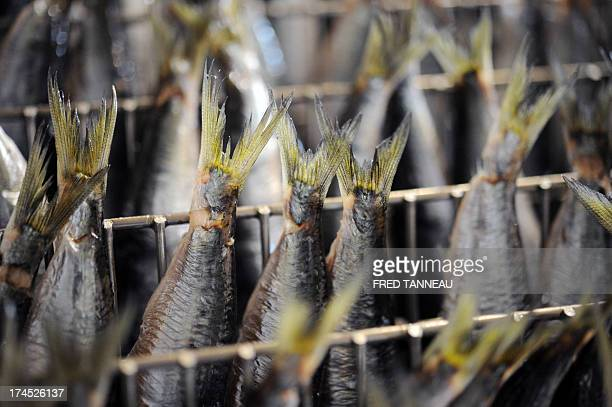 A picture taken on July 8 2013 shows fried sardines at the Gonidec canning fish factory in Concarneau western of France Gonidec canning fish factory...
