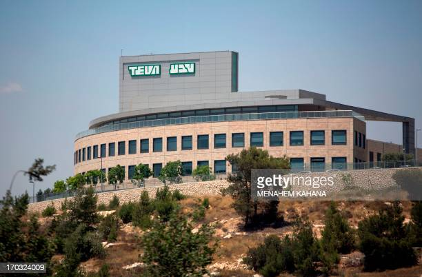A picture taken on June 11 2013 shows the outside of the factory of Israel's Pharmaceutical Industries Teva in Jerusalem An investigation was opened...