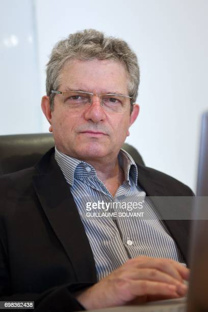 A picture taken on June 14 2017 shows founder and CEO of the Nextalim company JeanFrancois Kleinfinger posing at his company's headquarters in...