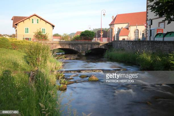 A picture taken on June 14 shows the Vologne river in Docelles eastern France in which fouryearold Gregory Villemin was found tied up and drowned in...
