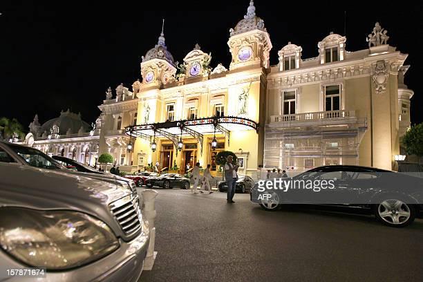 A picture taken on June 15 2011 shows Monaco's casino Prince Albert II of Monaco and his swimming champ fiancee Charlene Wittstock will celebrate...
