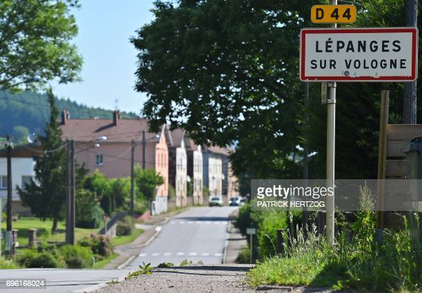 A picture taken on June 15 shows the entrance of the village of LepangessurVologne where the fouryearold Gregory Villemin was found tied up and...