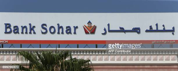 A picture taken on June 21 2017 shows the logo of Oman's Bank Sohar in Muscat / AFP PHOTO / MOHAMMED MAHJOUB