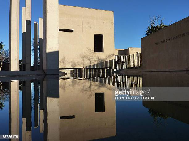 A picture taken on June 26 2009 shows the Apartheid Museum near Soweto The museum opened in 2001 and is acknowledged as the preeminent museum in the...