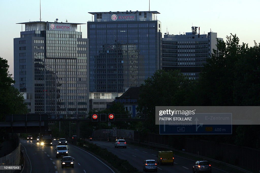 Picture taken on June 4, 2010 shows the headquarters of German industrial corporation Evonik Industries in Essen, western Germany. The Evonik Industries AG was created in the year 2007 as a result of restructuring of the German mining and technology group RAG. The company's business areas are chemicals, energy and real estate.
