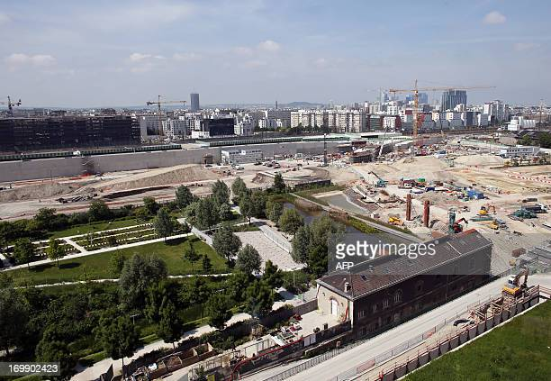 A picture taken on June 4 2013 shows a construction site in Batignolles neighbourghood in Paris with ClichyBatignollesMartin Luther King park...