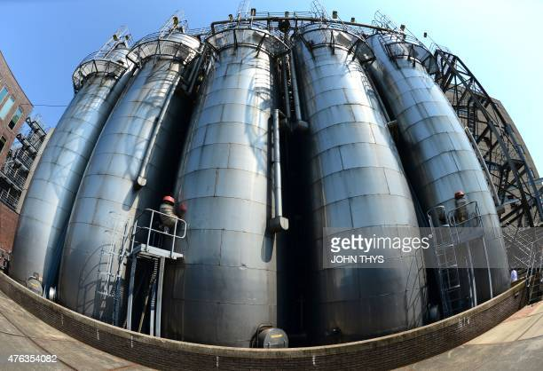 RABAT A picture taken on June 5 2015 shows tank oils at the Unilever company in Rotterdam Unilever is a multinational company in the field of food...