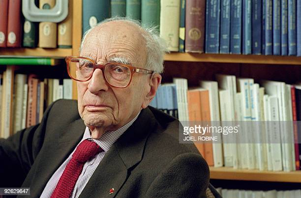 Picture taken on June 8 2001 at the College de France in Paris shows French anthropologist and father of structuralism Claude LeviStrauss LeviStrauss...