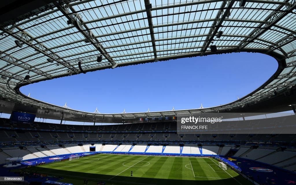 A picture taken on June 9 2016 shows a general view of the Stade de France in SaintDenis north of Paris on the eve of the Euro 2016 football...