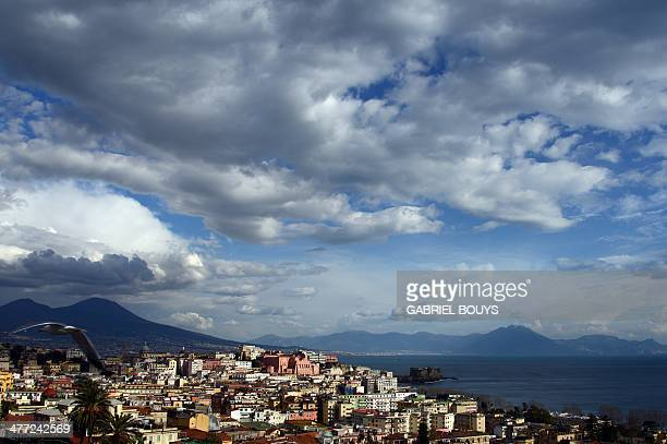 A picture taken on March 07 2014 shows the Naples' gulffrom the Posillipo hill AFP PHOTO / GABRIEL BOUYS
