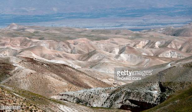 A picture taken on March 11 near the West Bank city of Jericho shows a view of the mountains of the Judean desert / AFP / THOMAS COEX