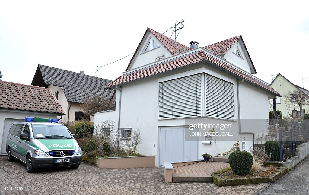 FILES Picture taken on March 12 2009 shows a police car standing in front of the house where 17yearold Tim Kretschmer lived with his parents in...
