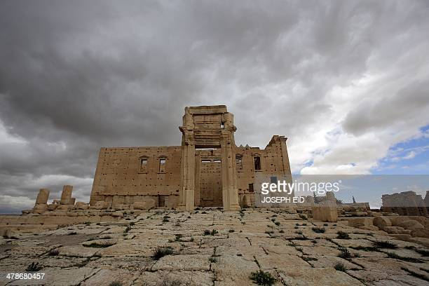 A picture taken on March 14 2014 shows the sanctury of Baal in the ancient oasis city of Palmyra 215 kilometres northeast of Damascus From the 1st to...
