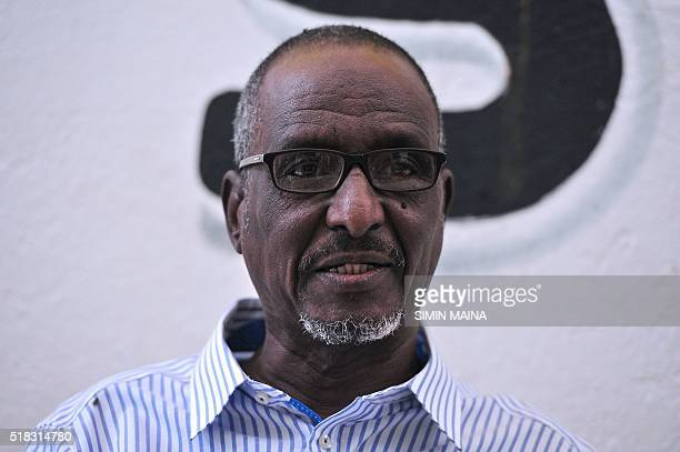 A picture taken on March 2016 shows Djibouti's opposition presidential candidate for the Union for National Salvation Omar Elmi Khaireh speaking to...