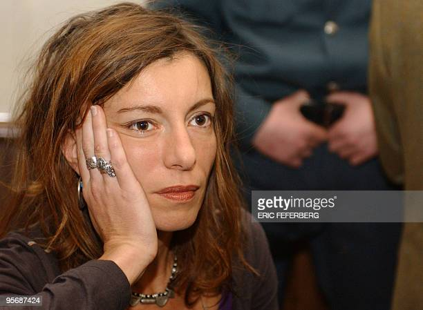 Picture taken on March 22 2004 in Vilnius shows Kristina Rady the wife of French rock singer Bertrand Cantat who killed herself on January 10 2010 in...