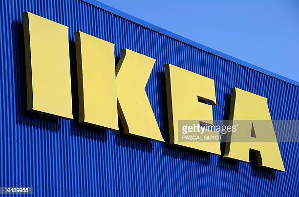 A picture taken on March 27 2013 shows the sign of Swedish furniture giant Ikea at the Odysseum shopping mall in Montpellier southern France AFP...