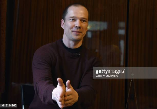 A picture taken on March 3 2017 shows Russian opposition activist Ildar Dadin who was recently freed after some 15 months spent behind jail for...