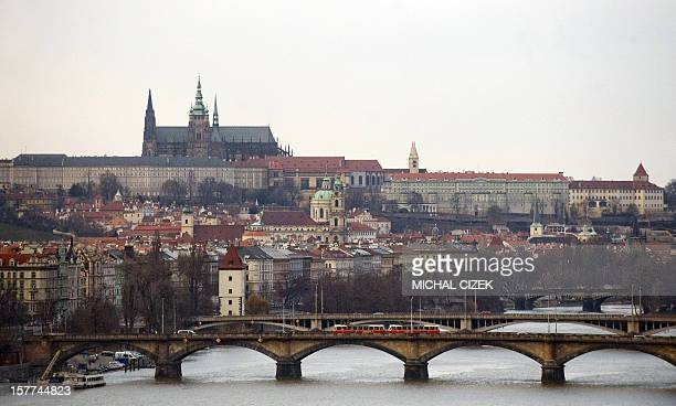 A picture taken on March 4 2010 from Vysehrad Castle shows Vlatava river and Prague Castle Russia and the United States have agreed 'all the...