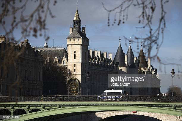 A picture taken on March 4 2015 in Paris shows the conciergerie the eldest part of the Palais de la Cité which hosts Paris law courts AFP PHOTO JOEL...